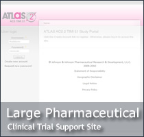 Large Pharmaceutical Clinical Trial Portal