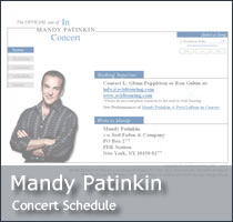 The Official Concert Site of Mandy Patinkin